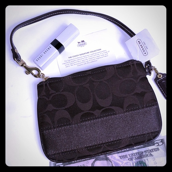 Coach Handbags - NWT-Authentic Coach Signature Collection wristlet